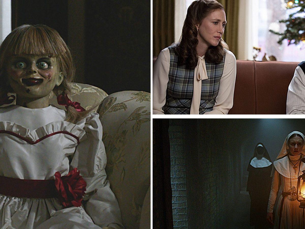 Szenenbilder aus Annabelle, Conjuring und The Nun.
