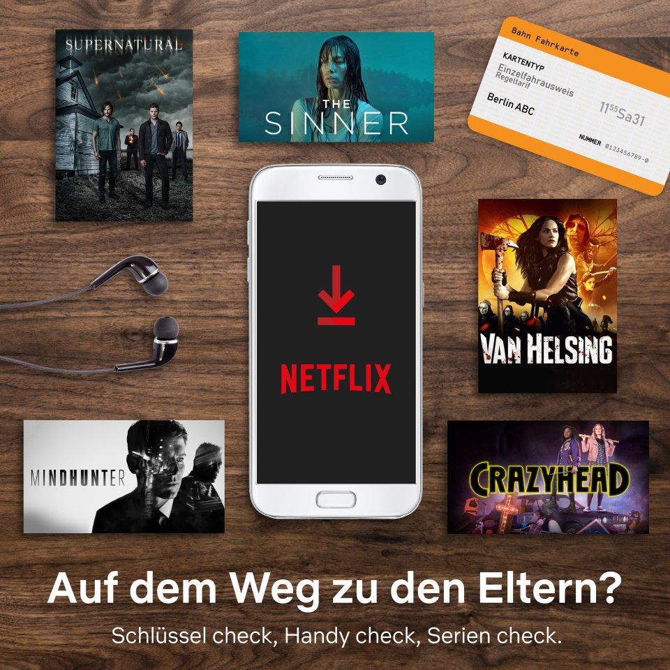 """1 Stunde mit Netflix: Da gäbe es SciFi- und Horror-Serien wie """"Supernatural"""", """"The Sinner"""" oder """"Mind Hunter"""" zu streamen."""
