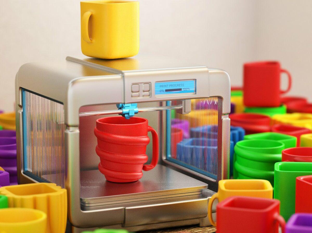 3d-drucker mit kunstoff-erzeugnissen