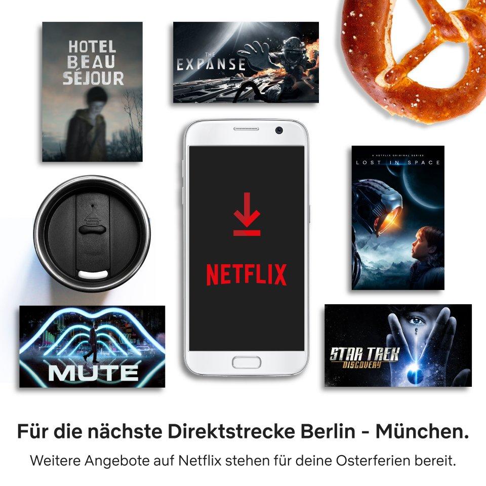 """4 Stunden mit Netflix: Zeit genug, um SciFi """"The Expanse"""", """"Star Trek Discovery"""" oder """"Mute"""" zu streamen."""