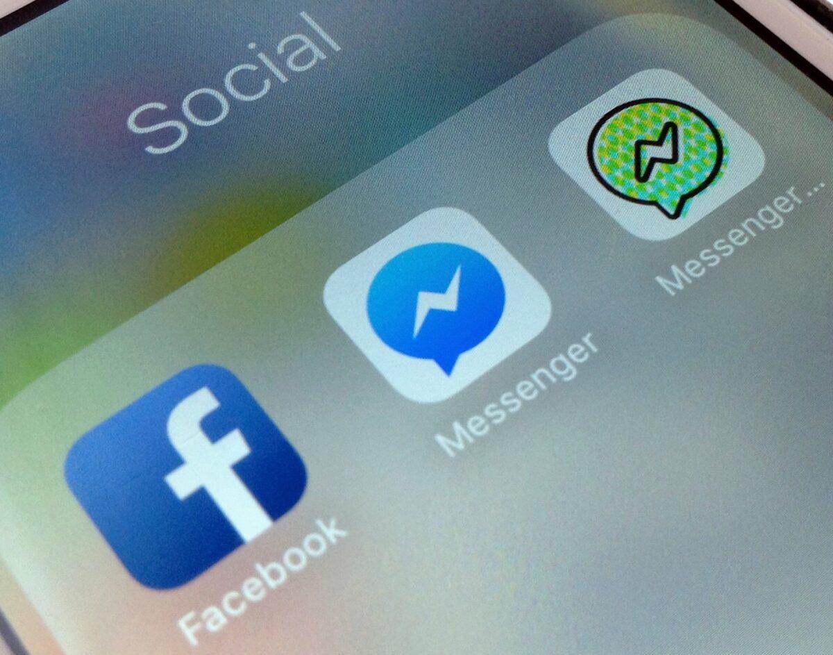 Facebook-App und Messenger-App auf einem iPhone