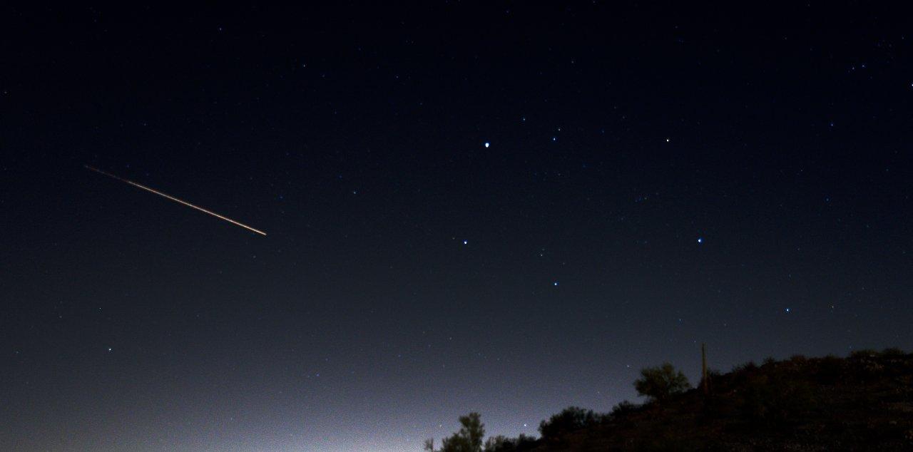 Verglüht ein Meteoroid in der Atmosphäre, wird er Meteor gennant.
