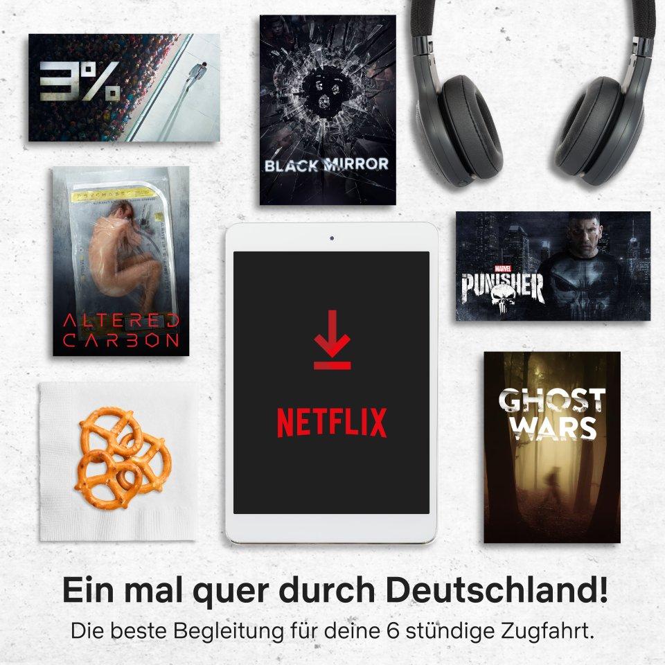 """6 Stunden mit Netflix: Da passen die SciFi-Serien """"Black Mirror"""", """"The Punisher"""" oder """"3%"""" hinein."""