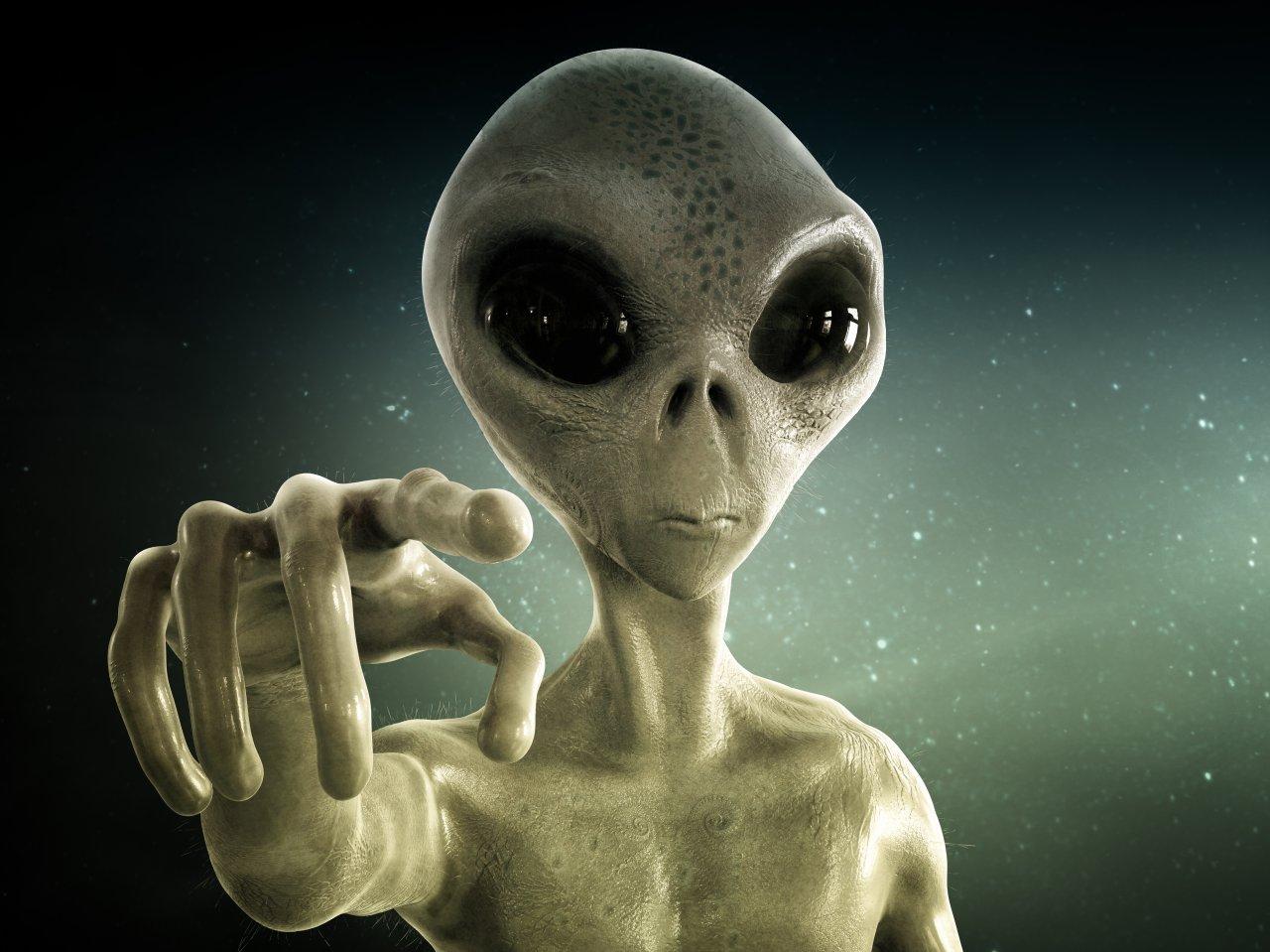 Eine weit verbreitete Darstellung außerirdischen Lebens. Sehen unsere potentiellen Nachbarn wirklich so aus?