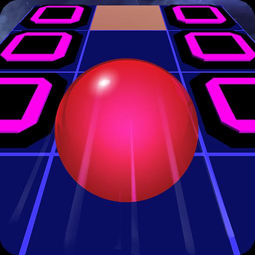 It's rolling, rolling ... bei diesem Spiel soll der Ball ins Weltall geschickt werden.