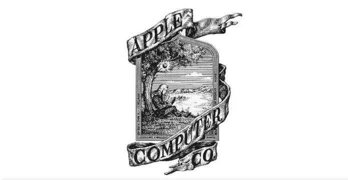 Das ursprüngliche Apple-Logo von 1976