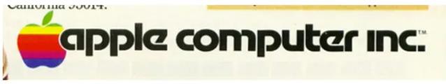 Das Apple-Logo auf Printprodukten