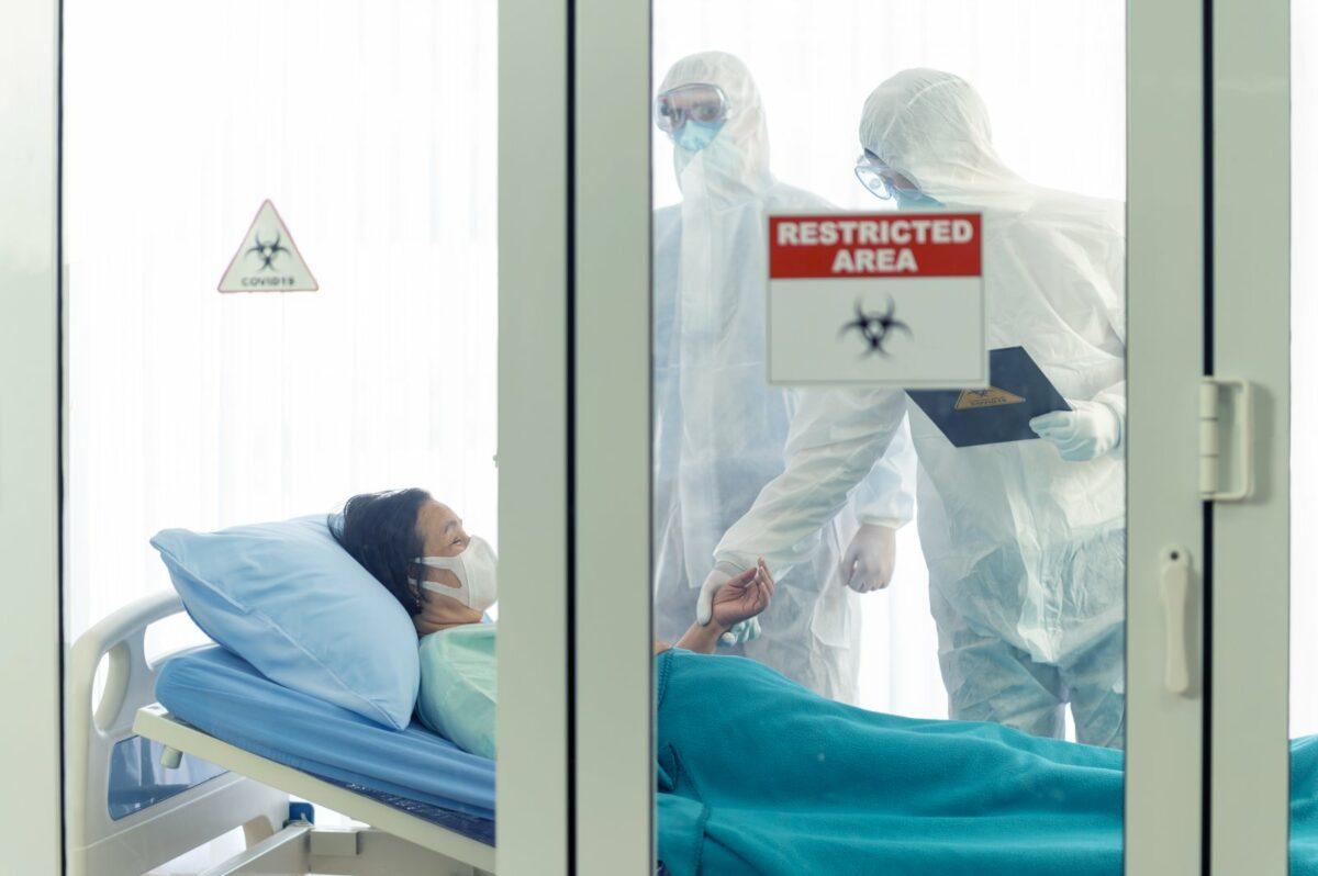 Coronavirus-Patient im Krankenhaus.