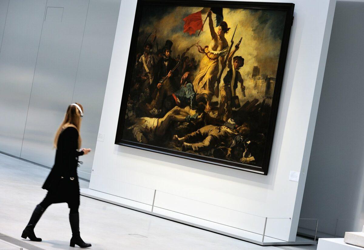 """""""Die Freiheit führt das Volk"""" von Eugène Delacroix"""