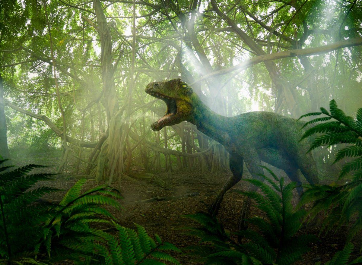 Dinosaurier-im-Urwald