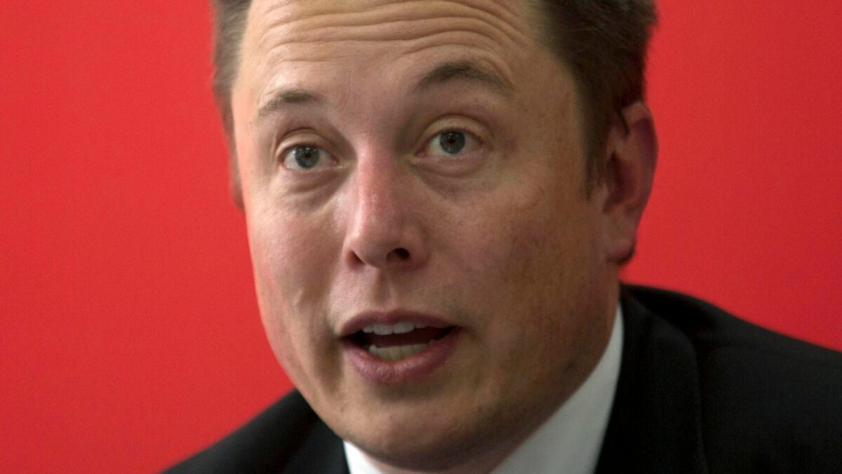 Tesla Motors Inc. CEO Elon Musk speaks before an event to deliver the first set of sedans to customers in Beijing