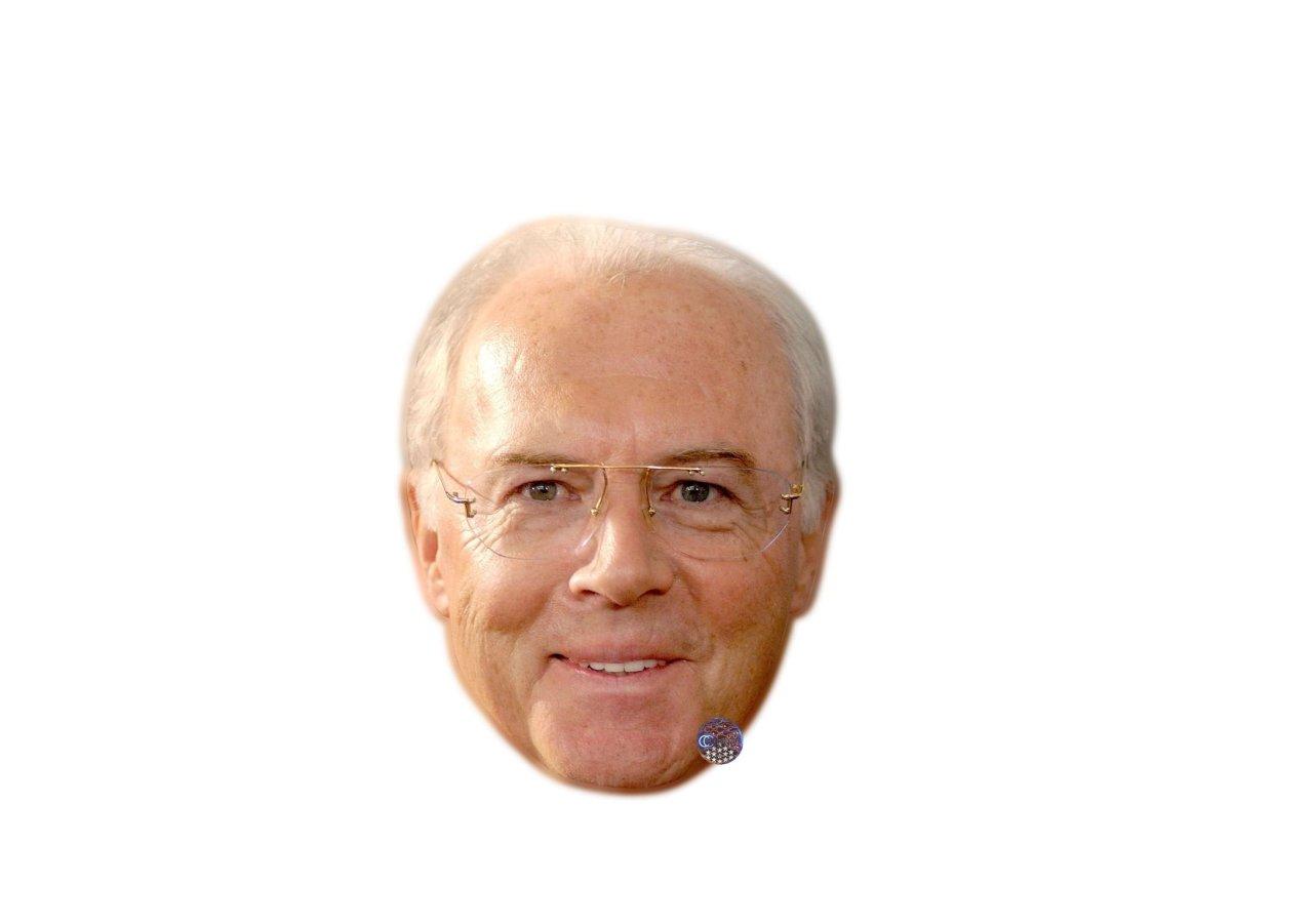 Macht sich auch als Maske gut: Franz Beckenbauer.
