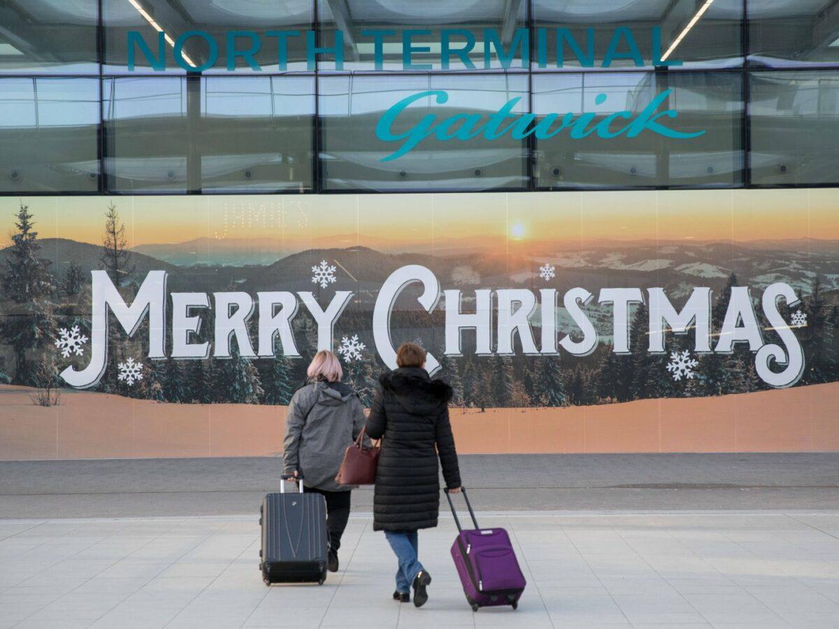 Gatwick Airport Merry Christmas