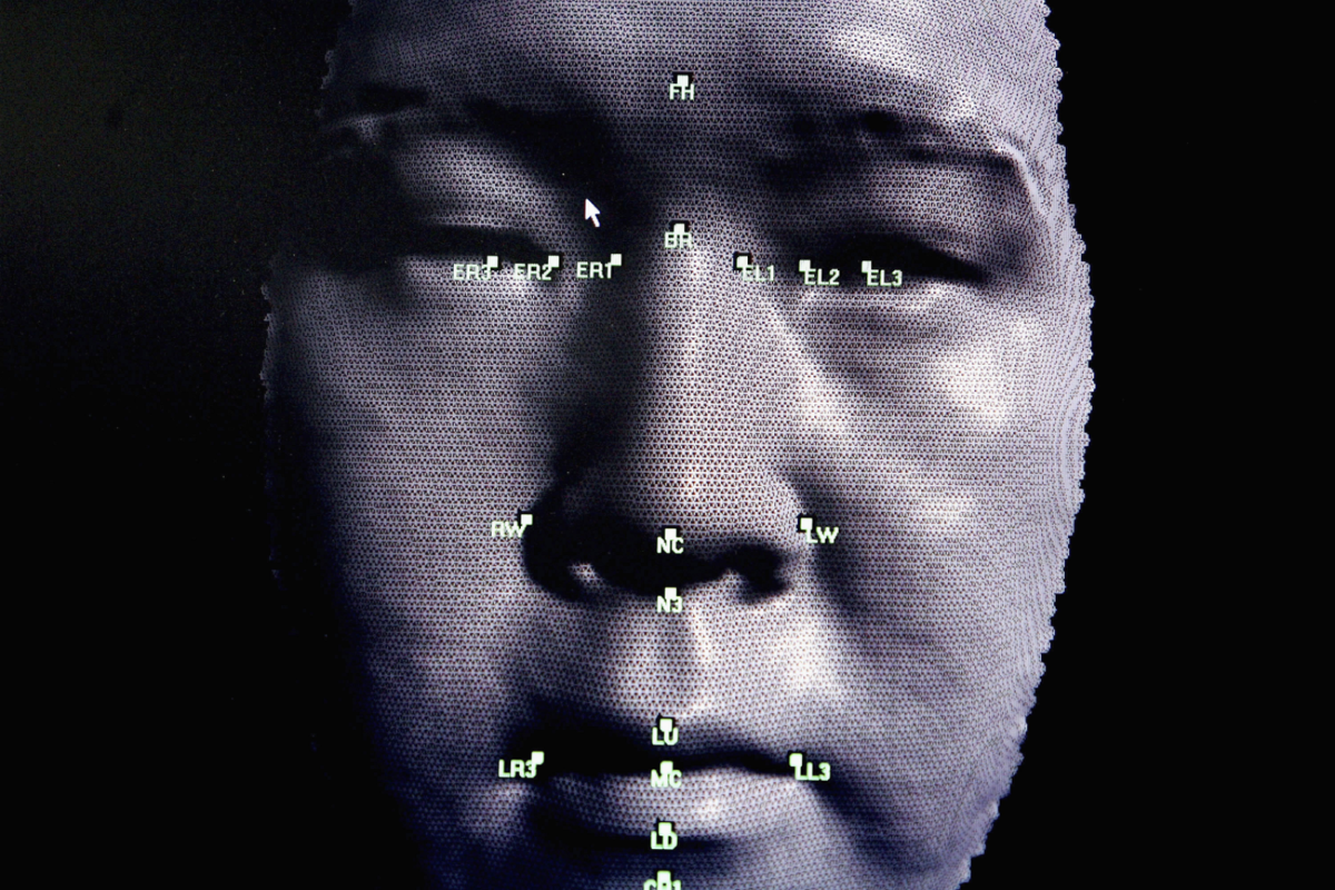 Gesicht wird in 3D modelliert