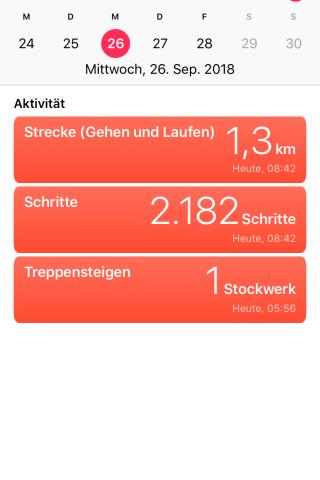 Die App zeigt eure Tagesbilanz und vieles mehr an