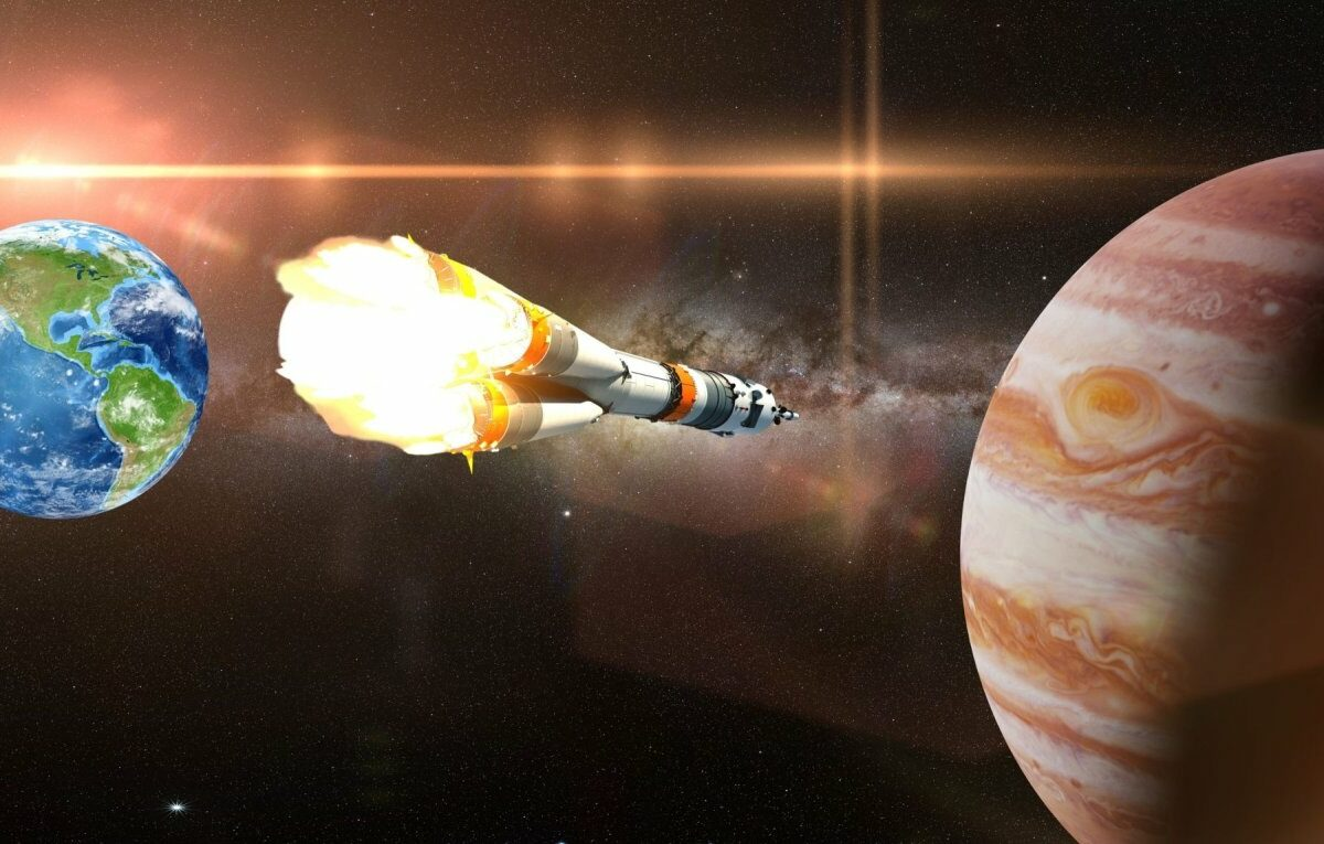 Erde/Rakete/Jupiter