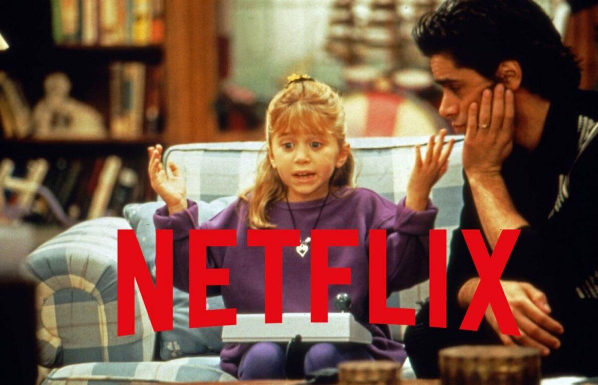 Olsen Zwilling und John Stamos in Full House auf Netflix
