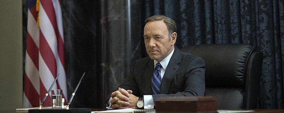 """Kevin Spacey spielt den US-Präsidenten im Netflix-Hit """"House of Cards"""""""