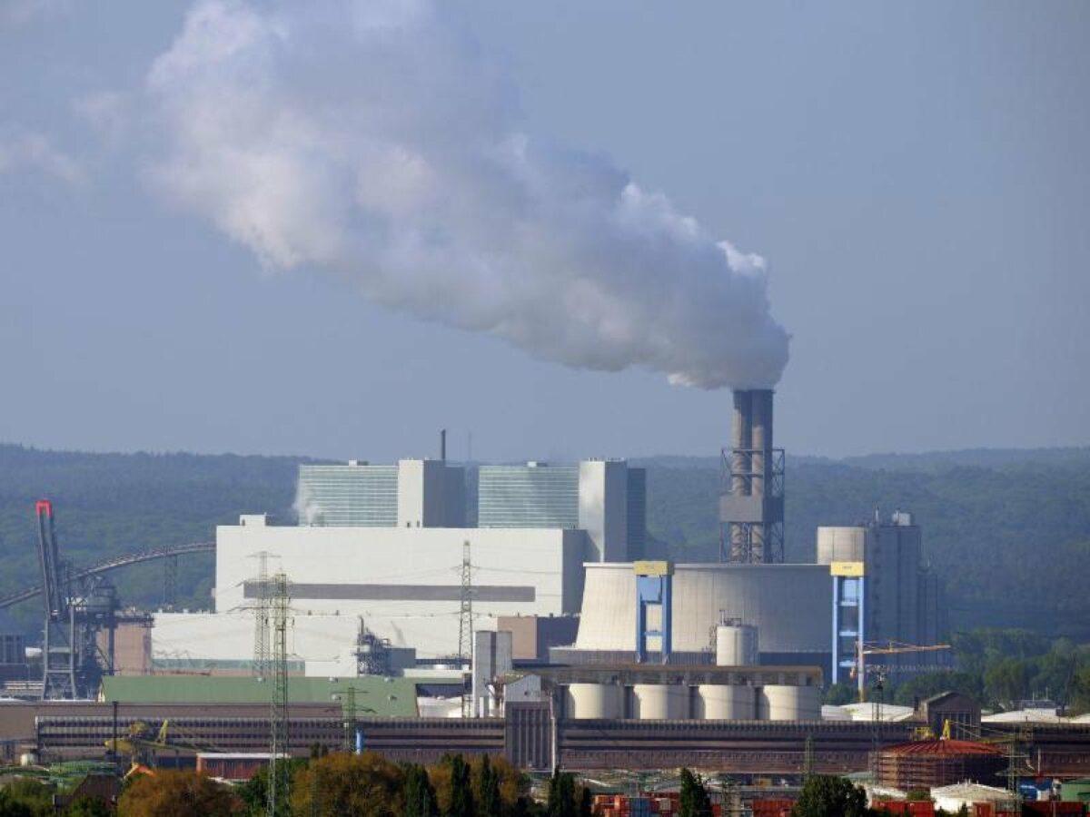 Das Kraftwerk Moorburg (Vattenfall) in Hamburg ist zu sehen.