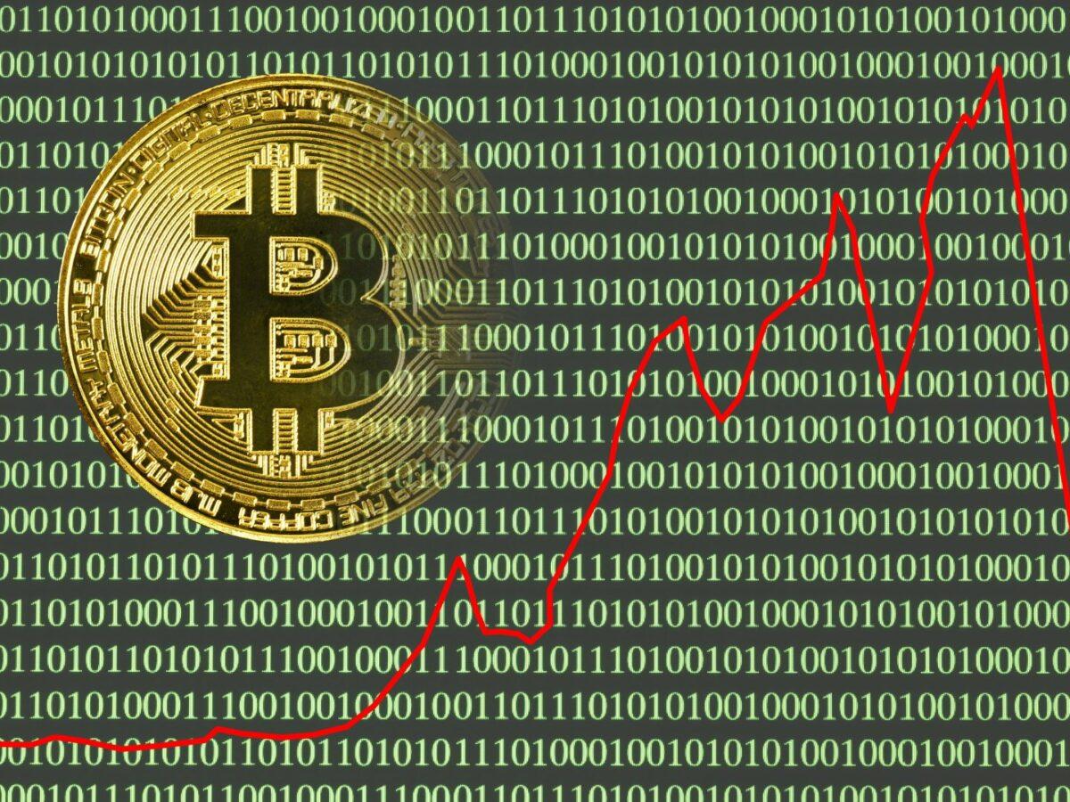 Abstürzende Bitcoin-Kurve