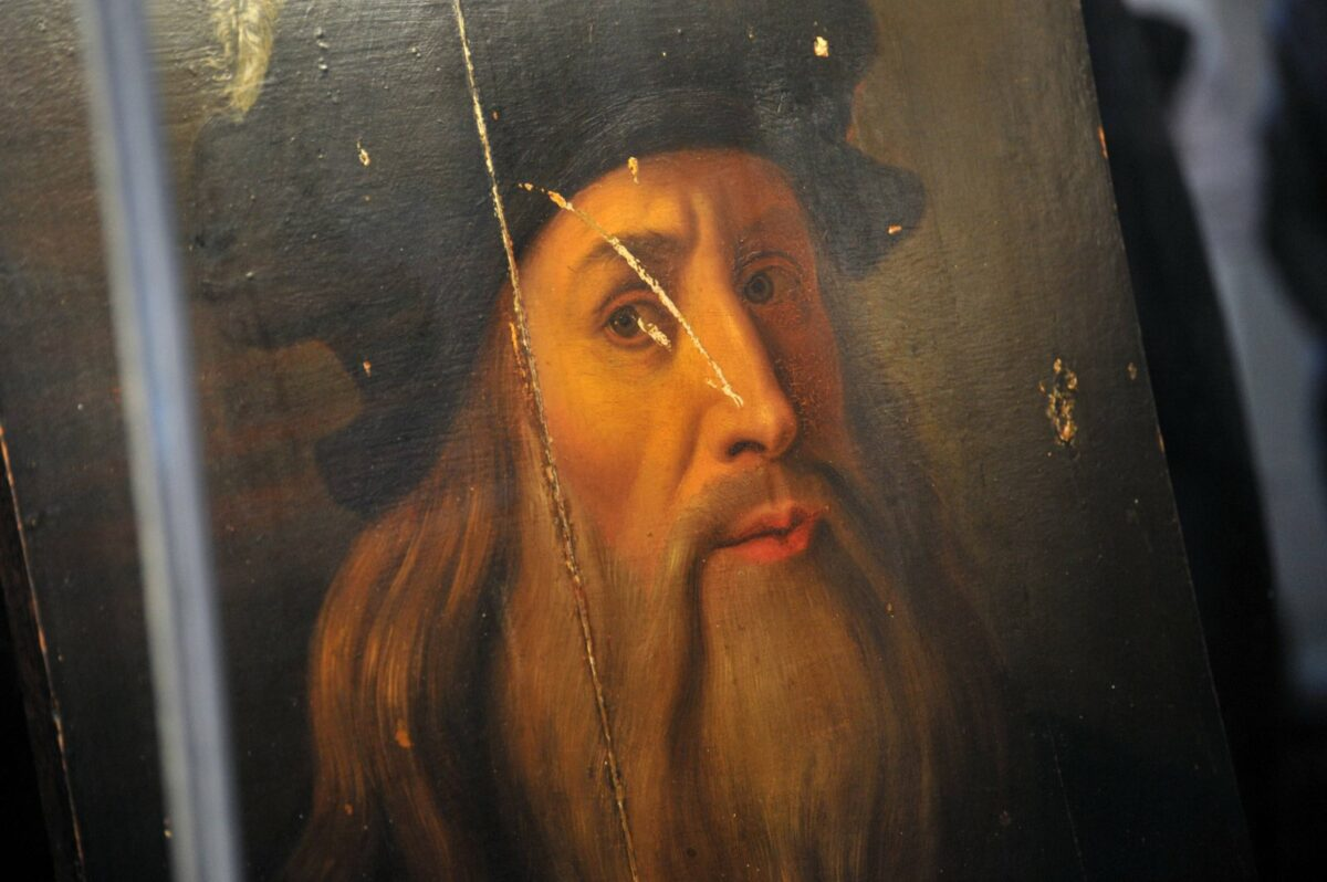 Selbstporträt von Leonardo da Vinci.