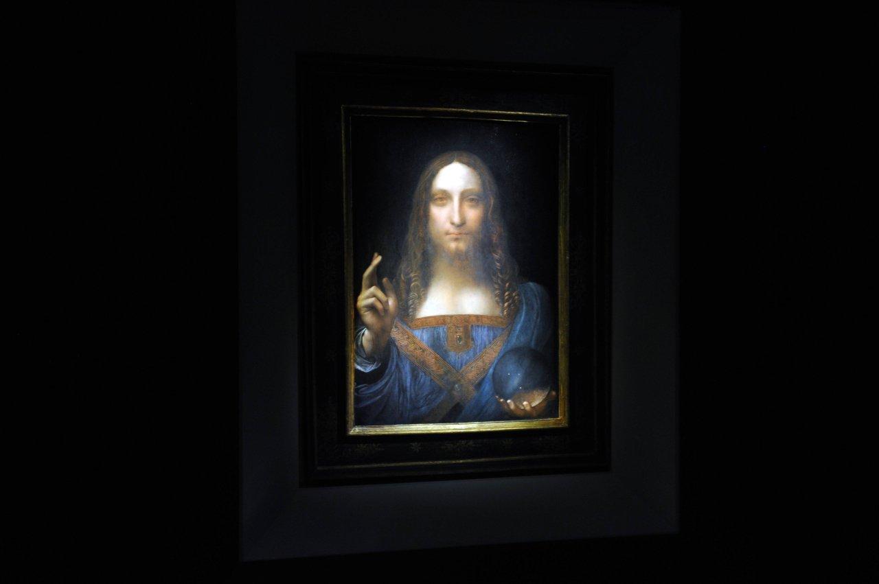 """Das teuerste Gemälde der Welt: Leonardo da Vincis """"Salvator Mundi""""."""