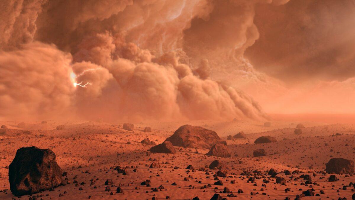 Illustration der Marsoberfläche