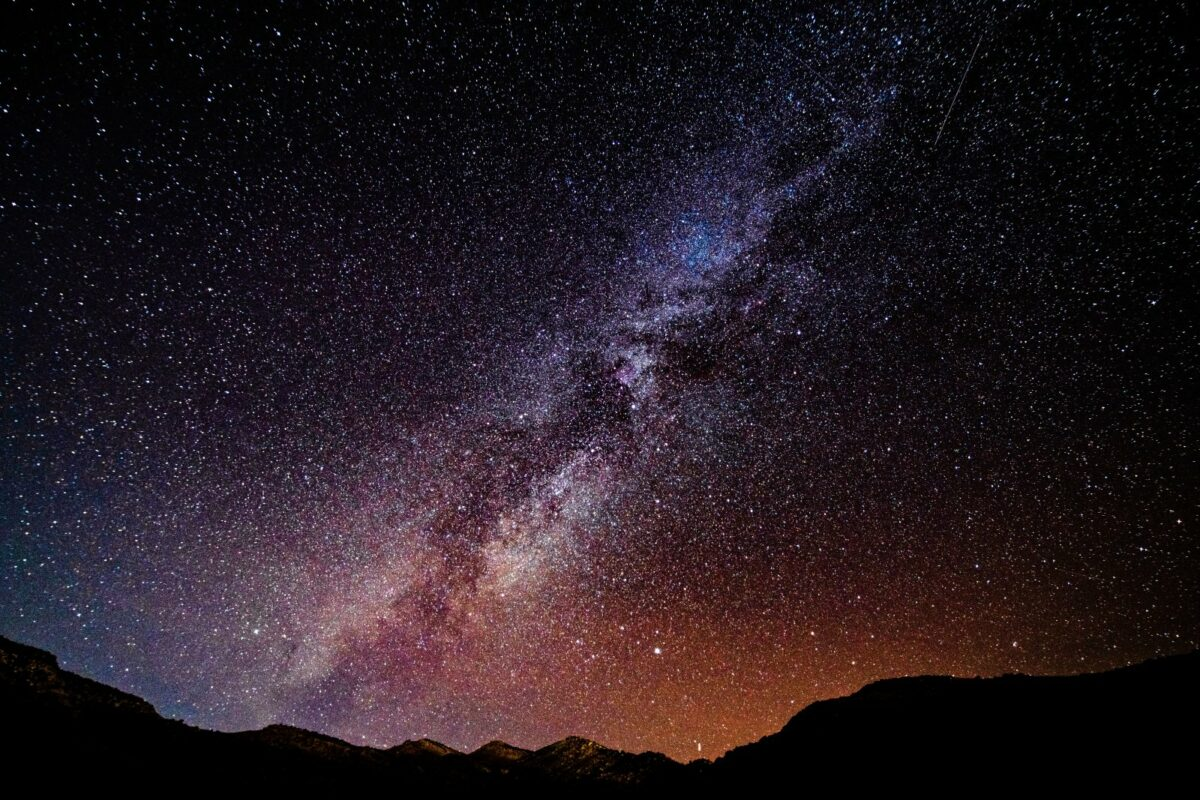 Milchstraße sichtbar von der Erde aus.