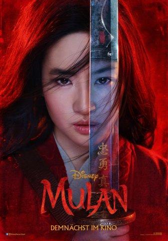 """Das kraftvolle Teaser Poster für das Live-Action-Remake des Disney-Klassikers """"Mulan""""."""