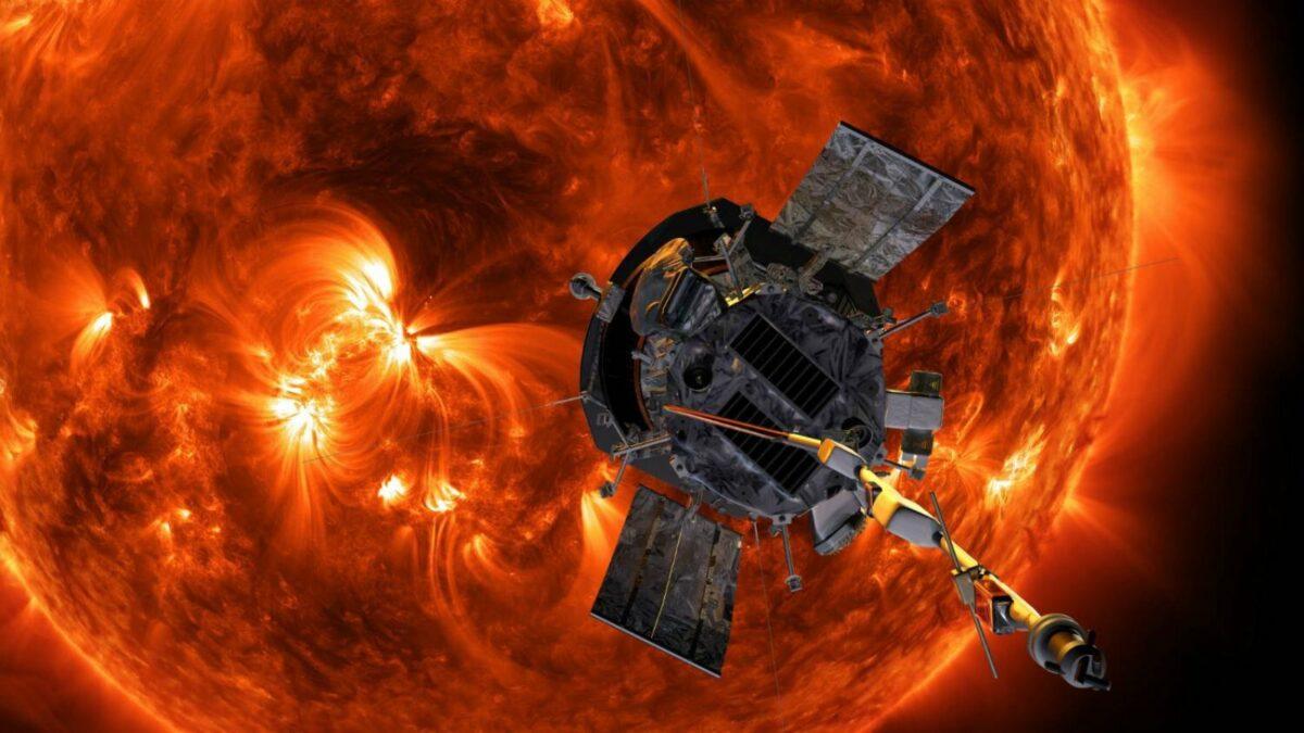 Illustration der NASA-Sonde Parker Solar Probe