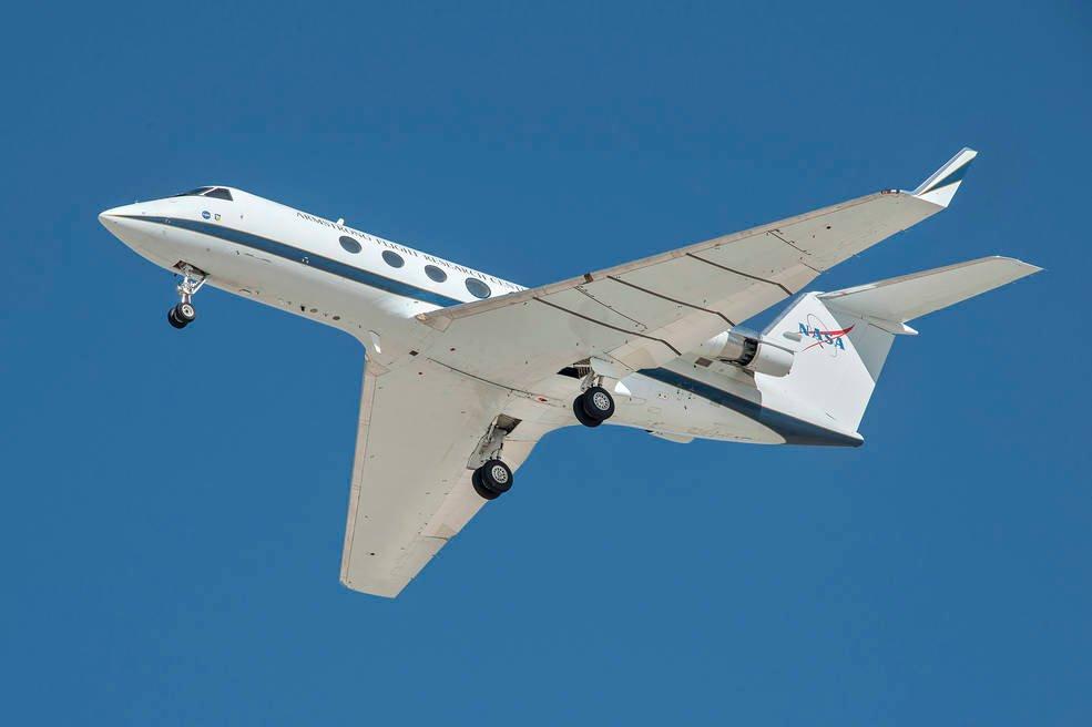 Das SubsoniC Research Aircraft Testbed G-III, kurz SCRAT, wurde für die umfangreichen Testflüge genutzt.