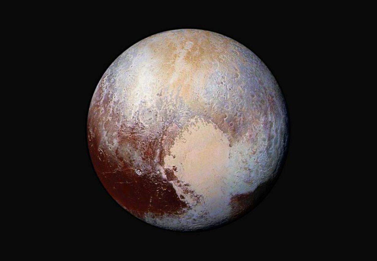 Pluto im Weltall.