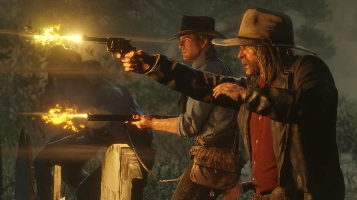 Männer mit Pistolen