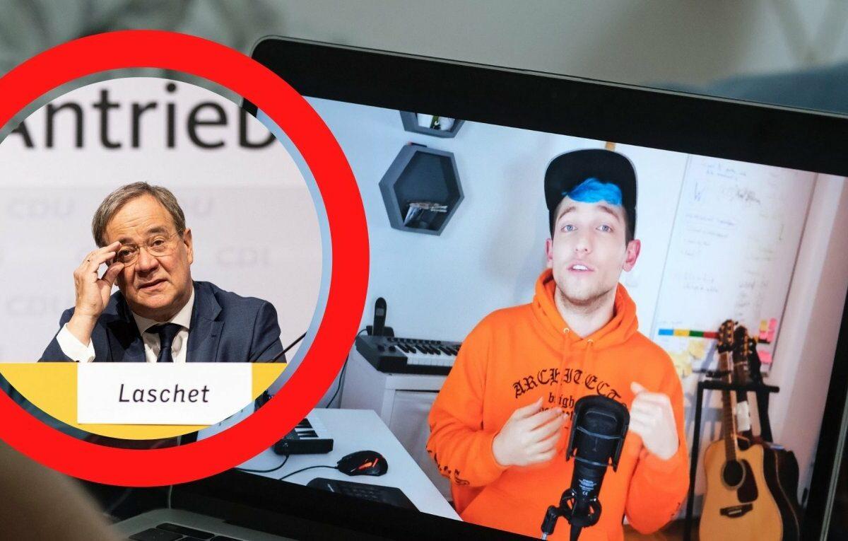 Armin Laschet (CDU) und YouTuber Rezo