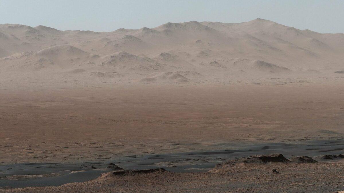 Bergrücken im Gale-Krater des Mars