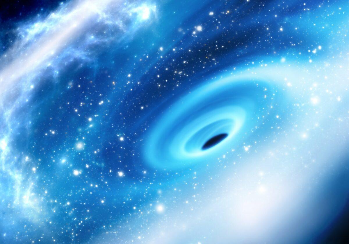 Schwarzes Loch im Universum.
