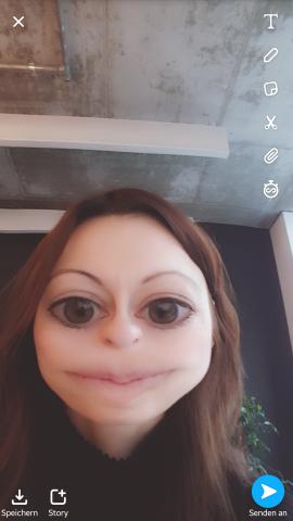 Per Snapchats AR-Filtern könnt ihr euch und andere hervorragend verunstalteten.