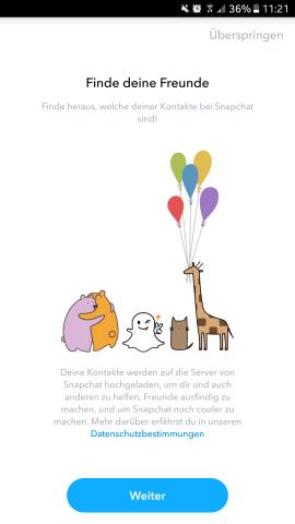 Freunde bei Snapchat zu finden, geht recht einfach.