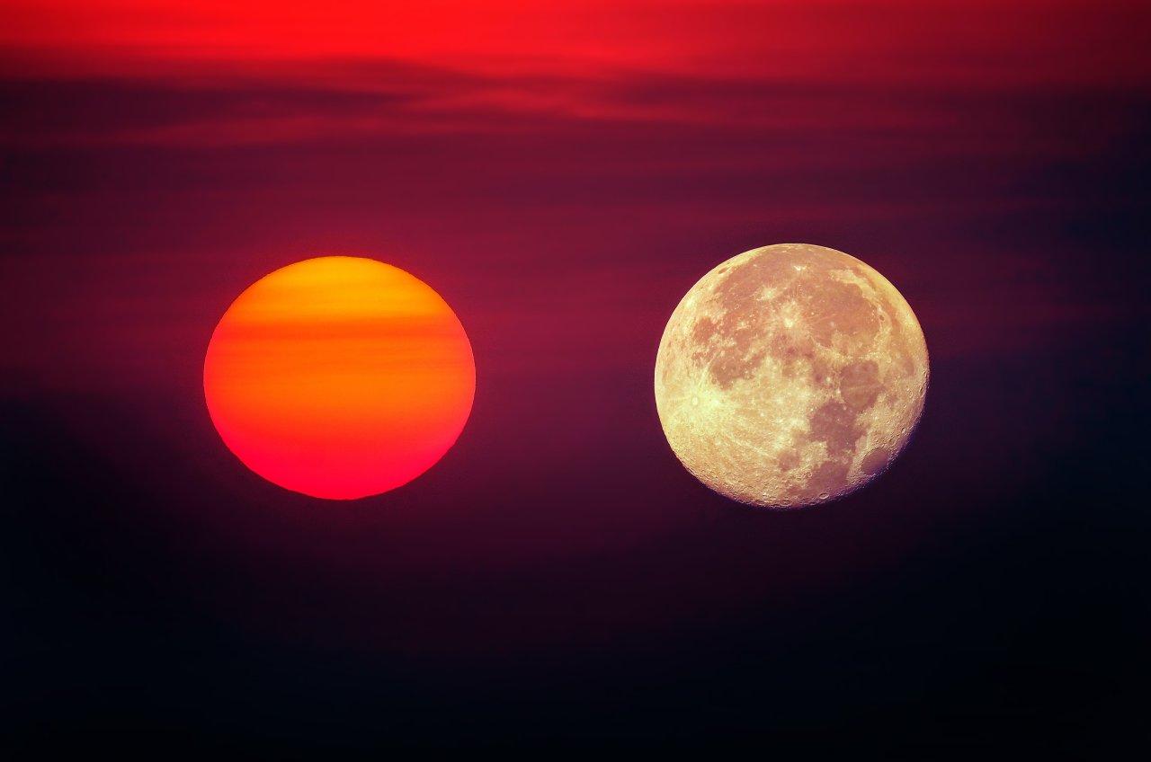 Sonne und Mond. Ein Pärchen mit ungewissem Ursprung.