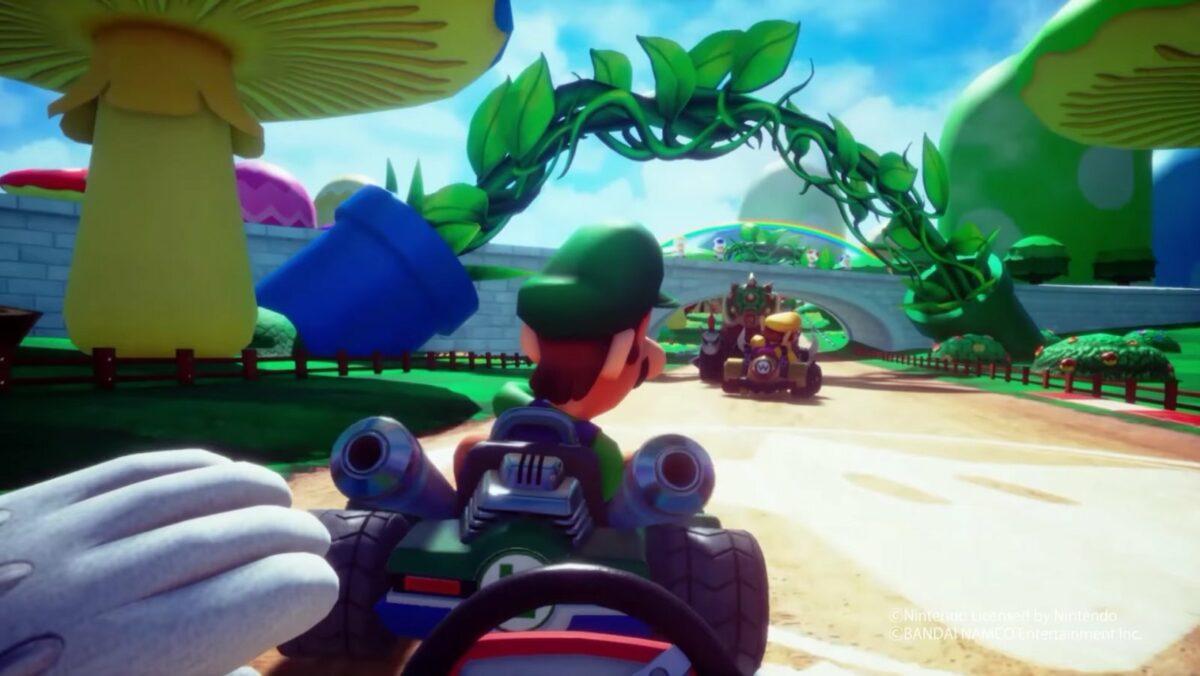 Virtual-Reality-Version von Mario Kart (Screenshot)