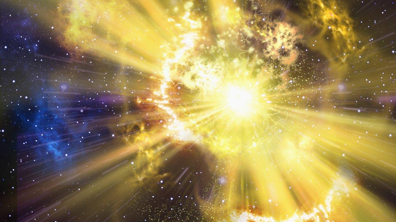 Was ist hier dargestellt? Eine Supernova, ein weißer Zwerg, ein Urknall oder eher ein Todesstern?