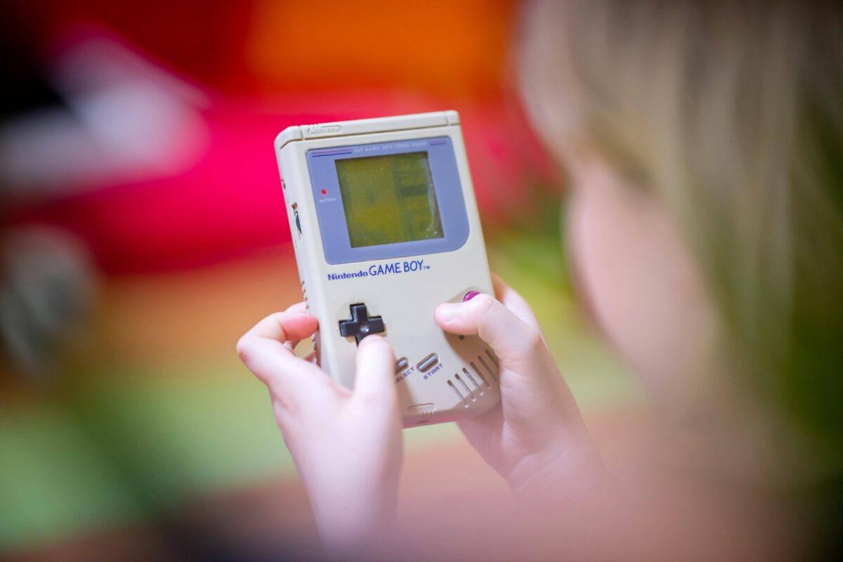 Tetris auf einem Game Boy