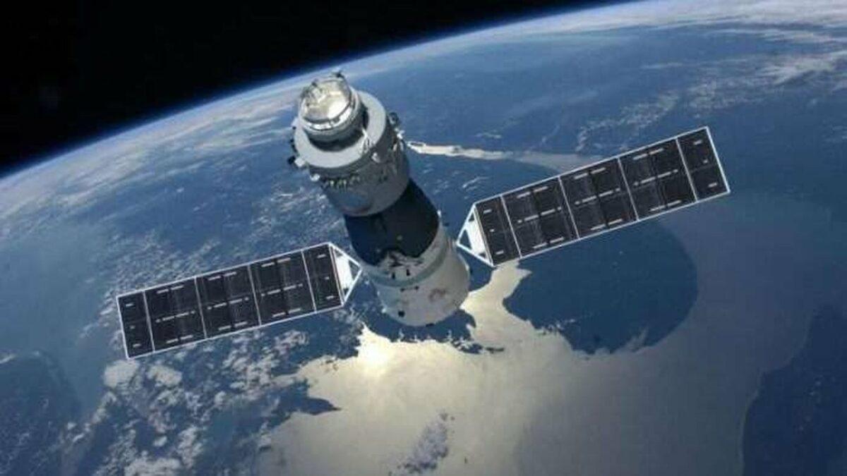 Die chinesische Raumstation Tiangong-1.