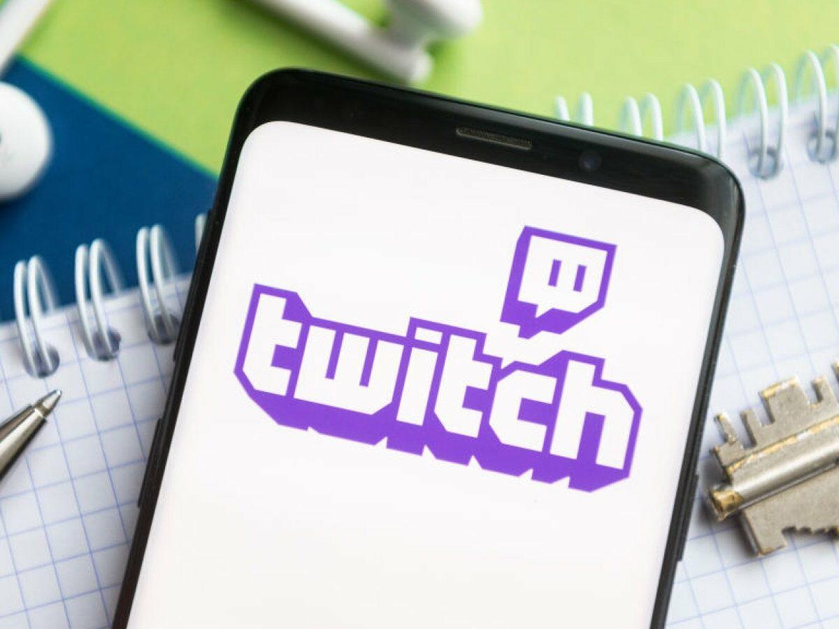 Twitch Logo auf einem Smartphone