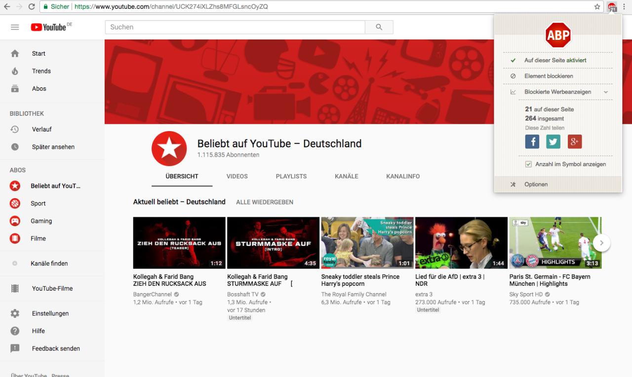 YouTube Werbung blockieren Ein Trick erlöst dich für immer ...