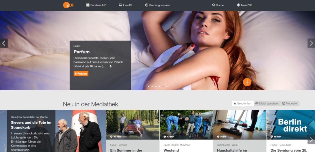 Screenshot der ZDF-Mediathek