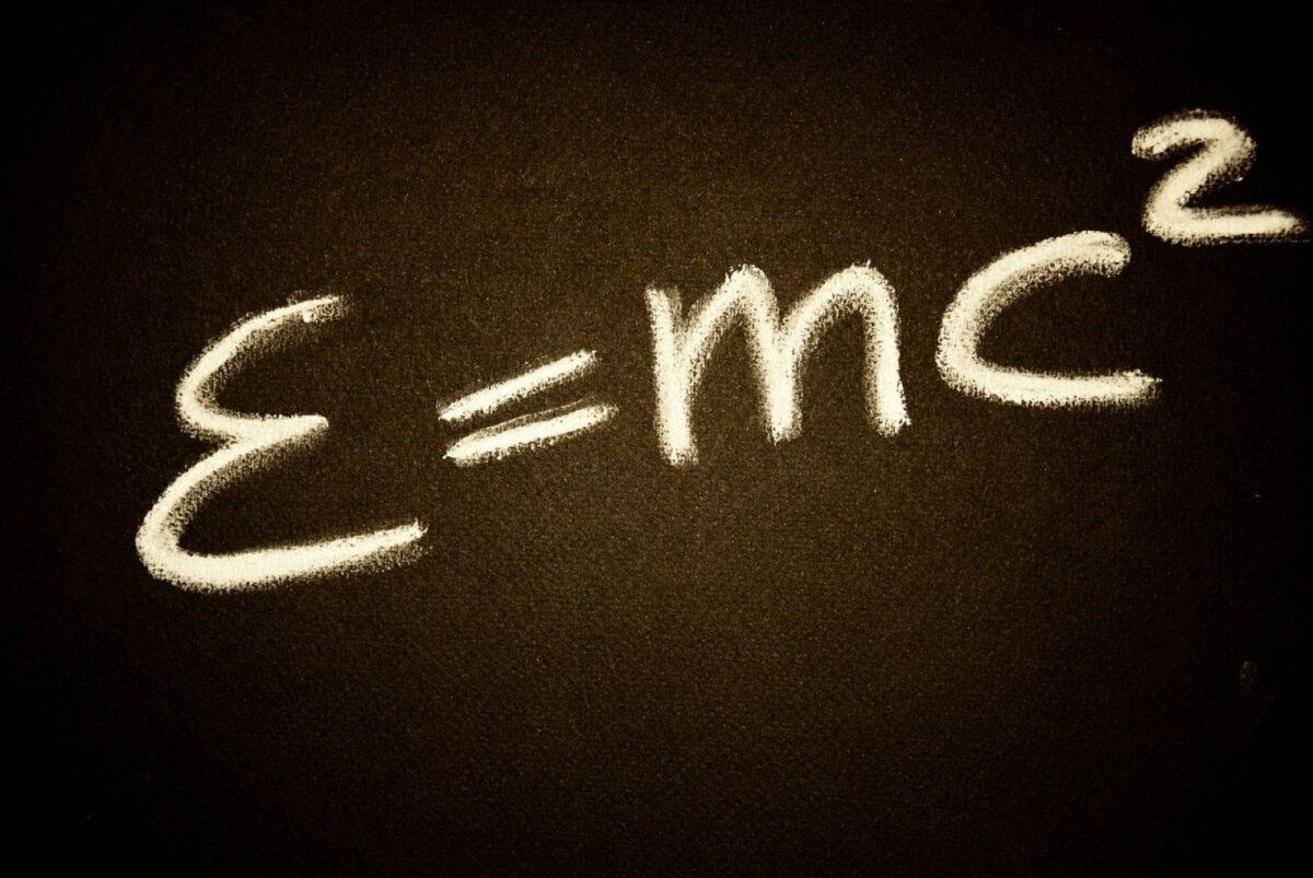 Relativitätstheorie-Formel von Albert Einstein