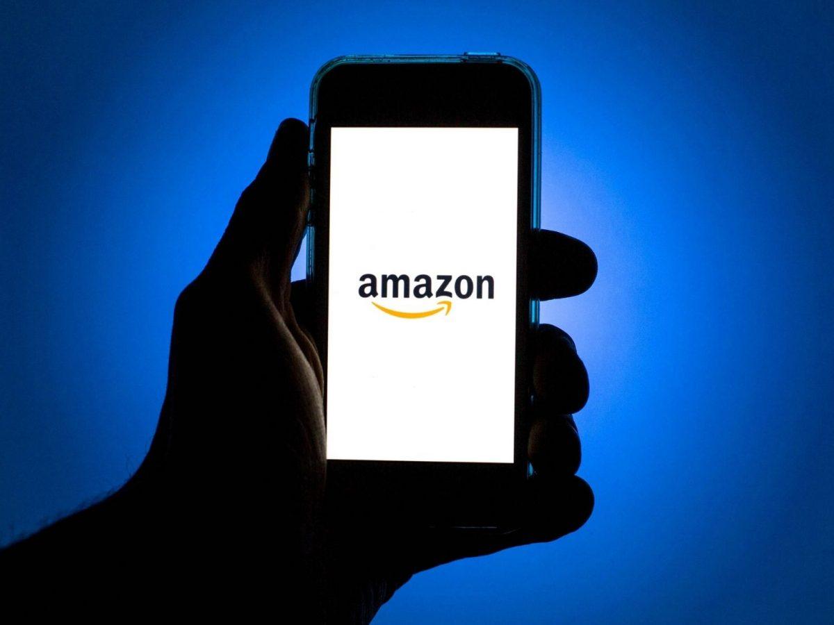 Amazon auf dem Handy.