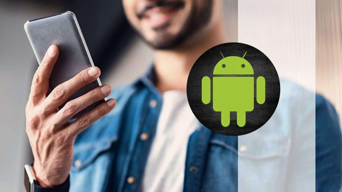 Android-Smartphone und Android-Logo