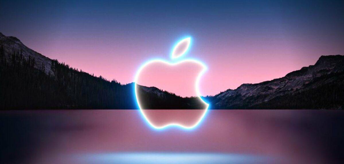 Leuchtendes Apple-Logo
